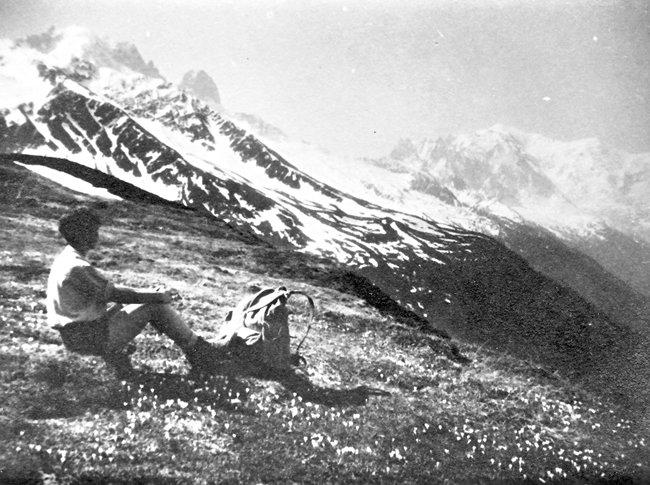 Barbara in the Swiss Alps, 1933