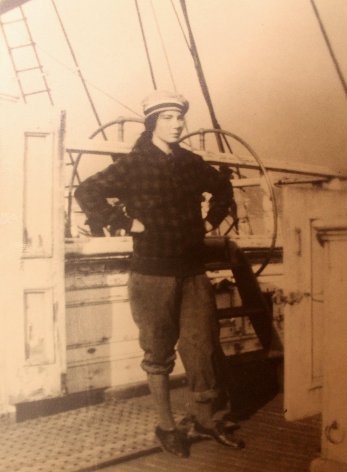 Barbara on the Vigilant, 1929