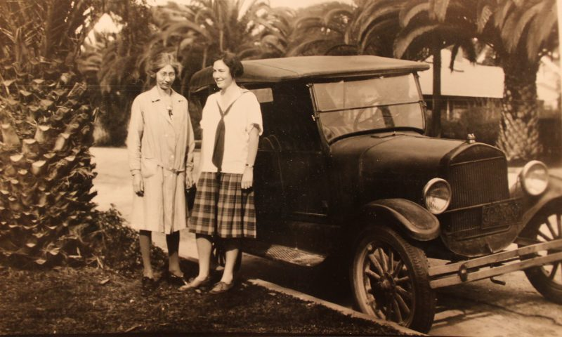 Alice Russell & Barbara on her sixteenth birthday, March 3, 1930.