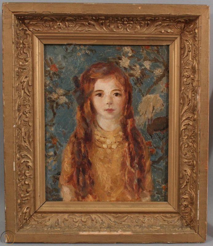 Portrait of Barbara by Ida Lathrop (1859-1937)
